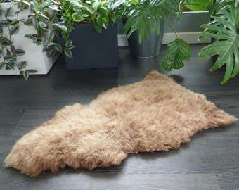"""Sheepland British """"Manx Loaghtan"""" Rare Breed Organic Undyed Pure Sheepskin Rug (64)"""