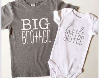 Big Brother Little Sister Shirts, Matching Sibling, Big Brother Little Sister, Matching Coming Home Outfit, big bro lil sis