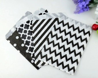 kraft paper bags 10 polka dots or chevron