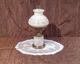 Vintage electric hurricane lamp, free shipping