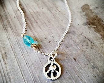 Artisan, Sterling Silver Peace Pendant Necklace