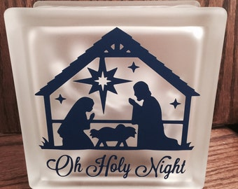 Oh Holy Night lighted glass block