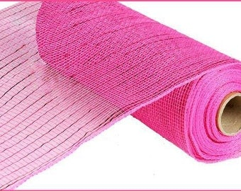 "10""X10yd Metallic Value Mesh Hot Pink W/Hot Pink Foil"