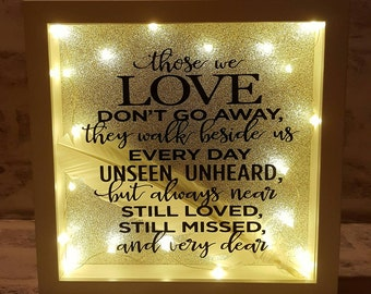 Those We Love Don't Go Away Light Up Box Frame