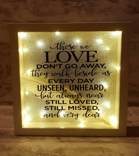 Download Those We Love Don't Go Away Light Up Box Frame from ...