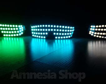 Led Glasses, Rave Glasses, Party Glasses, Led Costumes, Rave Clothing, Rave Wear, Festival Glasses, Rave Outfit Glowing Glasses Led Clothing