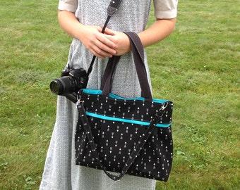 DSLR padded camera bag/strap set, deluxe cross body strap, photography, wedding photography, travel camera bag,camera built in insert