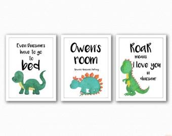 Dinosaur Trio Prints