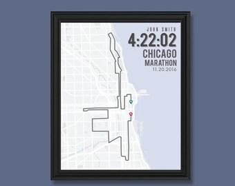 Chicago Marathon Print | Customizable | Running Wall Decor