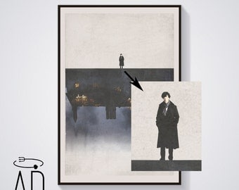 Four different prints, Sherlock Holmes BBC TV Series,Vintage Style,Benedict Cumberbatch Poster,Movie Poster,Graphic Design,Musgrave,Season 4