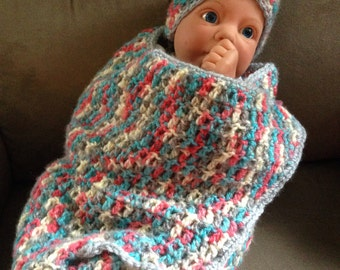 Infant Cocoon and Hat Set
