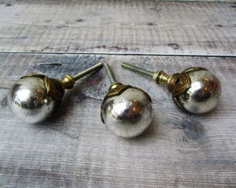 Silver Glass Mercury Ball Vintage Drawer Knob Cupboard Golden Pull Drawer Pull Mirrored Door Knob