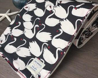 Modern Baby Blanket- Swan blanket - Snuggle blanket - baby girl blanket - baby shower gift