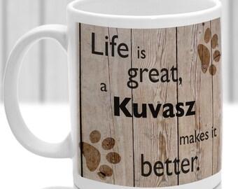 Kuvasz dog mug, Kuvasz dog gift, dog breed mug, ideal present for dog lover