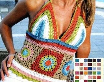 Women beach top crochet / custom