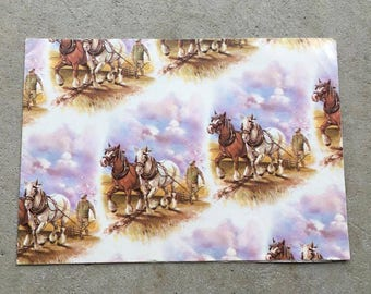 Vintage | Plough Horse | Wrapping Paper