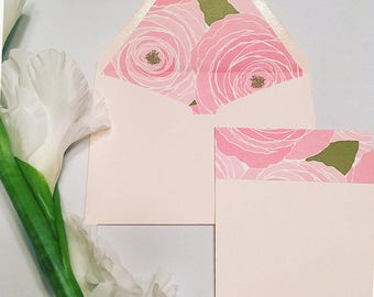 Peony Notecard w/ Envelope