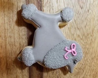 Custom Poodle Cookies