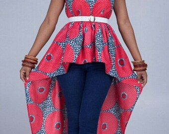 High-Low Ankara Top