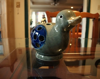 Ceramic Luminary or Diffuser Duck by Van P. Imports circa 1968