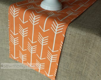 Orange Table Runner Arrow Dining Room Home Decor Table Centerpiece Linens Custom Dining Table Runner Decoration Table Cover