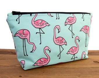 Pink Flamingo Makeup Bag for Mom - Make Up Bag - Cosmetic Bag for Her - Makeup Bag for Her - Flamingo Bag - Makeup Pouch Bag #24