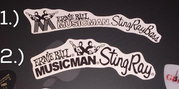 ernie ball musicman stingray bass waterslide headstock decal