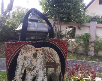 Elephant Clutch Bag made in thailand.(BA2)
