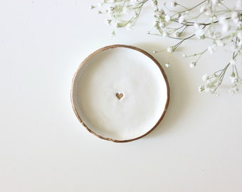 Gold Heart | Ring Dish | Heart Ring Dish | Jewelry Dish | Engagement Ring Dish | Bridesmaid Gift | Catch All | Personalized Gift