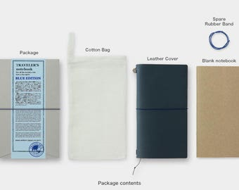 Traveler's Notebook Blue Edition Leather Cover Regular size 2015 limited-edition Color Gift Free shipping Best Buy from Japan LTD HTF Rare