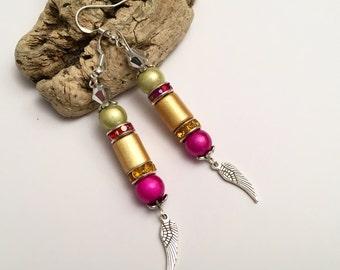 Earrings ethnic spirit bohemian fasteners silver 925