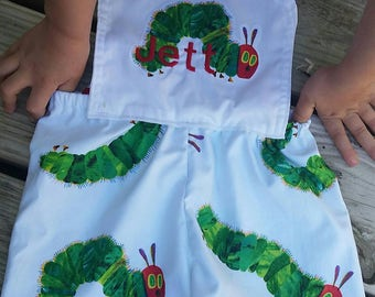 Hungry caterpillar overall romper