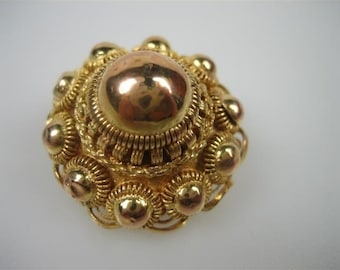 C.1890 antique gold 14k. brooch...