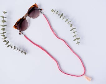 SUNGLASSES CORD TRENDY pink.