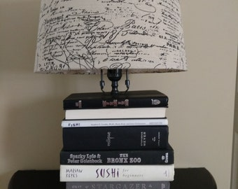 Upcycled Stacked Book Lamp