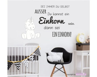 Wall decals wall sticker decal wall tattoo nursery bedroom Unicorn cutie always be yourself unless you can be a Unicorn