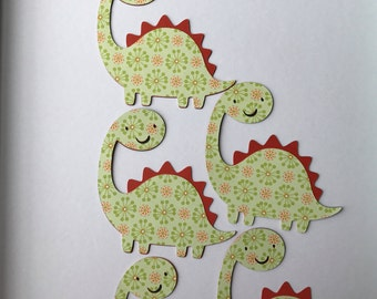 Dinosaur die cuts, Dinosaur decoration, birthday party decoration, baby shower decoration, set of 5