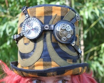 top hat with glasses steampunk