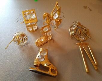 6 Danbury Mint Christmas Ornaments