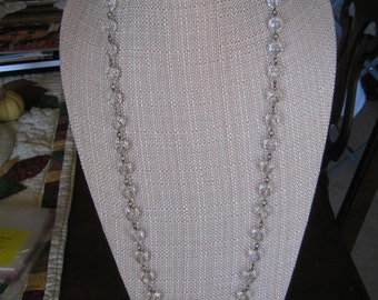 Vintage Clear Plastic Beaded Necklace
