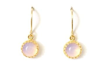 Gold moonstone drop earrings, gold boho earrings, exotic earrings, moonstone earrings, sister, pink moonstone, dewandrose,Australian shop