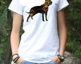 Cane Corso Tee - Dog T-shirt - Fashion Tee - White shirt - Printed shirt - Women's T-shirt
