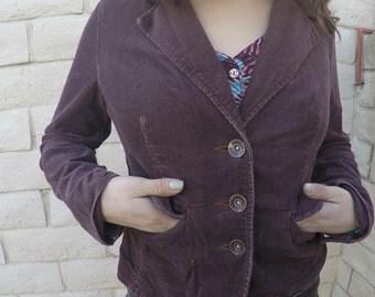 Corduroy Brown Leather Jacket
