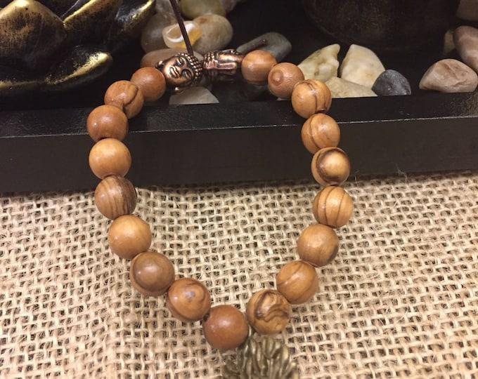 Tree of life olive wood bracelet