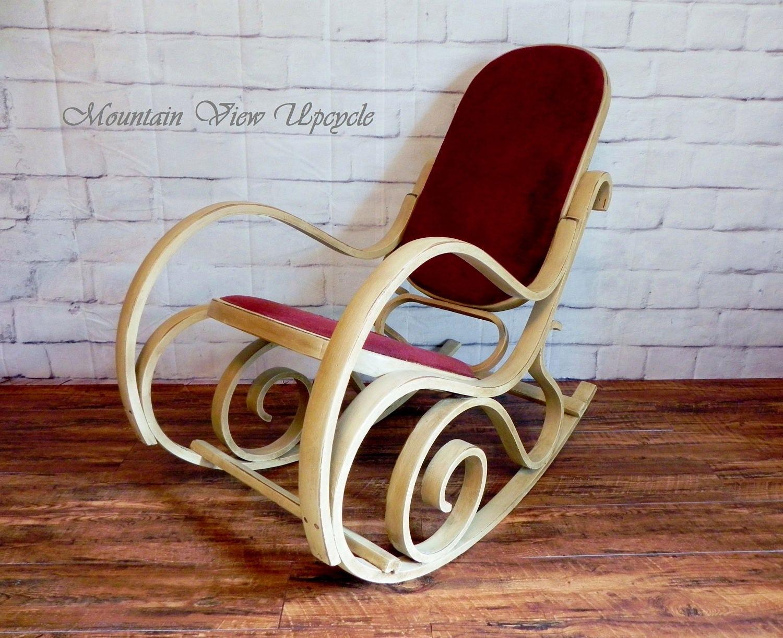 BEAUTIFUL Distressed Bent Wood Rocker, Shabby Chic Rocking Chair, Thonet  Rocker, Nursery Rocking