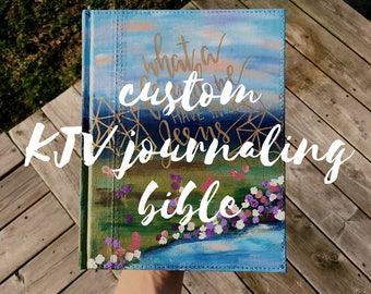 Custom KJV Journaling Bible