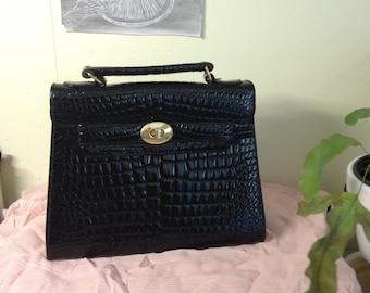 Faux snake handbag