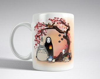 STUDIO GHIBLI CHARACTERS Mug Cherry Blossom Tree Mothers Day Gift Boyfriend Girlfriend gift