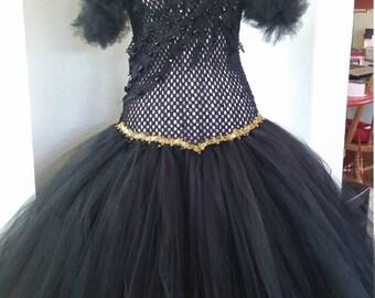 Gothic wedding gown, prom, party, tutu, dress