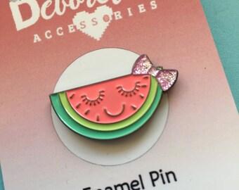 Enamel Melon Pin